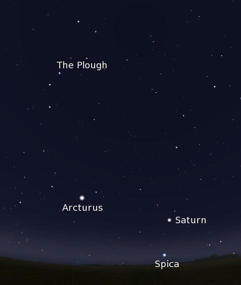 Stars of Spring, screen capture from Stellarium